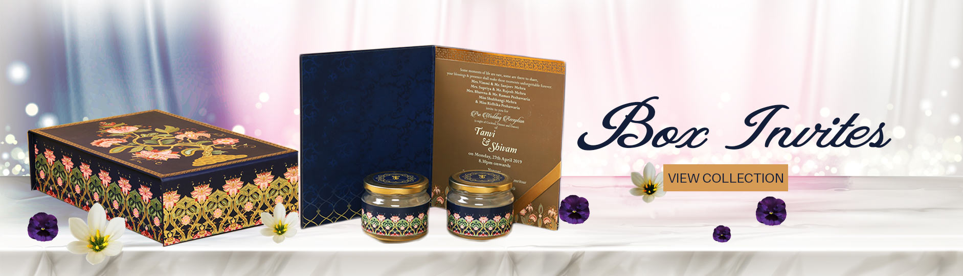 Box style indian wedding card