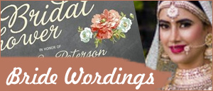 bride wordings
