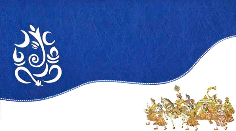 Wedding Cards With Hindu Wedding Symbols