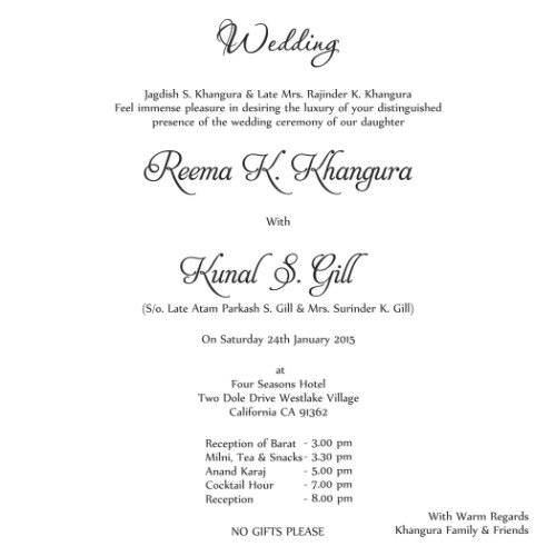 Looking For Wedding Card Wordings