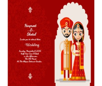 Modern Bride groom wedding e card