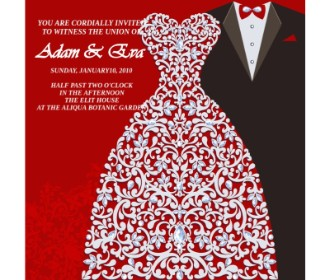 Beautiful wedding e card design -