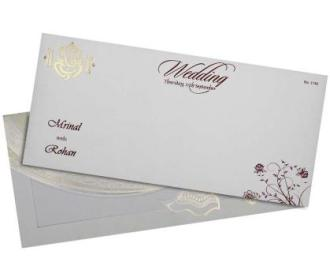 Traditional hindu wedding card with Gadh bandhan design