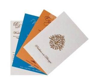 Elegant wedding invitation in cream and golden