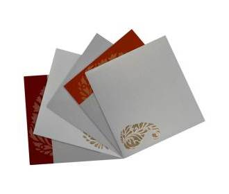 Elegant cream & golden paisley design wedding card