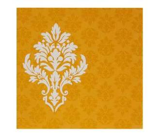 Designer Orange-Golden Wedding Invitation in Multicolor Insert