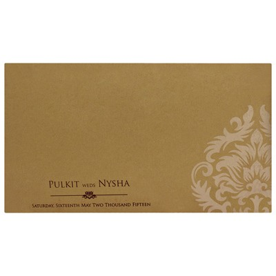 Fuschia and Golden card with multi color inserts