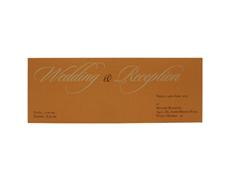 Elegant Indian Wedding card in Royal blue and Golden