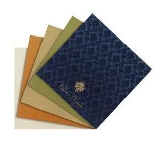 Indian wedding card in royal blue and golden