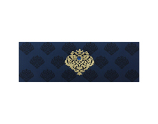 Indian wedding card in Navy blue and golden