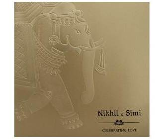 Antique Golden Card With Traditional Indian Designs