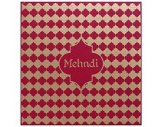 Royal hindu wedding card in multicolor inserts