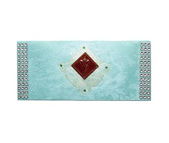 Aqua Handmade Envelop
