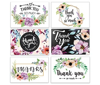Beautiful colorful mixbag of thank you cards with envelopes