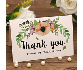 Beautiful colorful mixbag of thank you cards with envelopes -