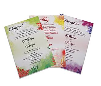 Beautiful floral multicolour wedding invitation