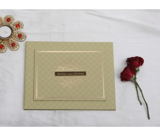 Beautiful hangings with Ganesha Hindu Wedding invite