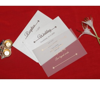Beautiful laser cut wedding invite