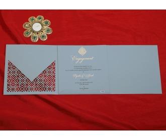 Beautiful Multifaith Grey colored wedding Invite