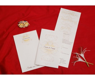 Beautiful multifaith wedding invite