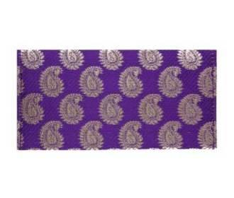 Purple And Golden Paisley Shagun Envelope -