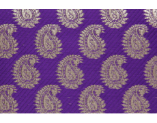 Purple And Golden Paisley Shagun Envelope