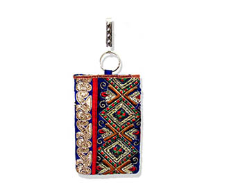 Blue Embroidered Mobi