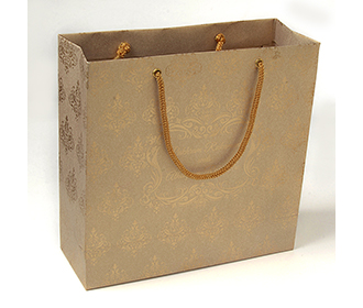 Carry bags in light brown color with traditional indian motifs