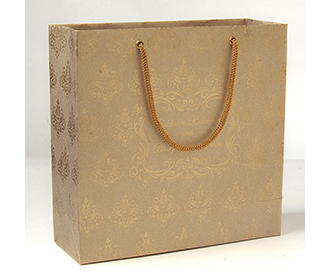 Carry bags in light brown color with traditional indian motifs -
