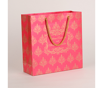 Carry bags in pink color with traditional indian motifs -