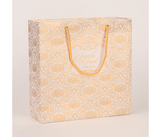 Carry bags in white color with traditional indian motifs -