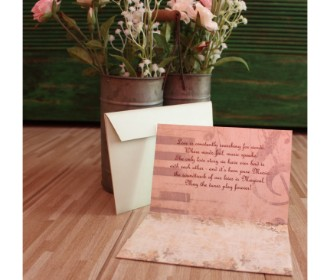 Old styled Cassette Wedding Invite