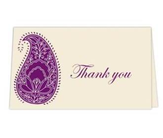 Thank you card  in Cr