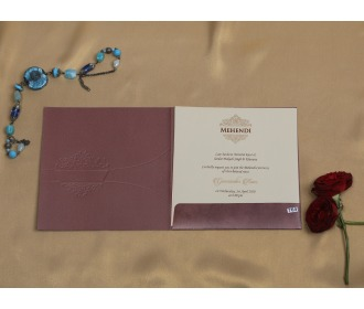 Chocalaty brown multifaith wedding invite