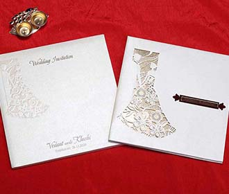 Christian Indian Wedding Invitation in Laser Cut Style