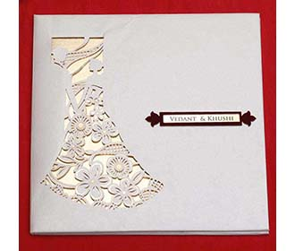 Christian Indian Wedding Invitation in Laser Cut Style -