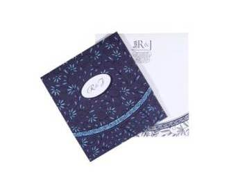 Classic Indian Wedding Cards in Blue & White Colour