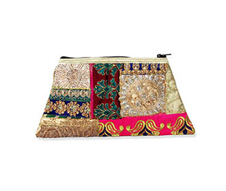 Colorfull embroidered hand Clutch