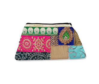 Colorfull embroidered hand Clutch -