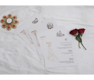 Couple laser cut wedding Invite