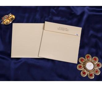 Cream color wedding invite