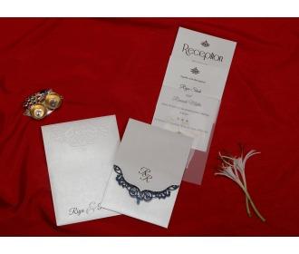 Cream colored wedding Invite