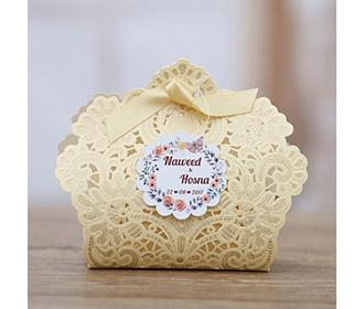 Cream Floral Lasercut