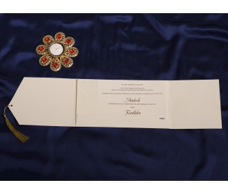 Cream Pull out wedding invite