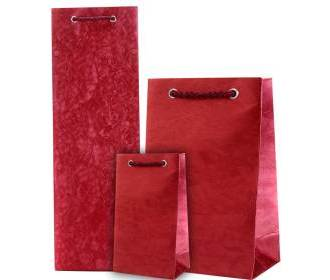 Wedding Gift Bag in Crimson Colour & Wine Combo