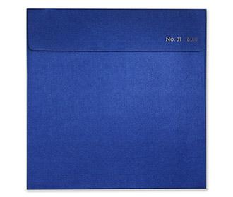 Designer circular hindu wedding invitation in royal blue