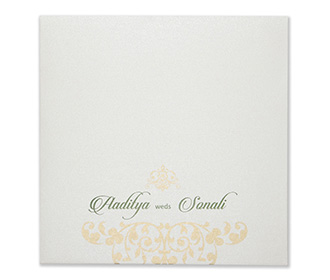 Designer floral laser cut invite in pastel green colour