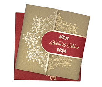Buy cheap indian wedding invitations online in wedding budget in budget invites designer royal indian wedding invitation in maroon and golden filmwisefo Image collections
