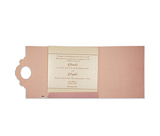Designer tamil wedding card in pink and golden colour