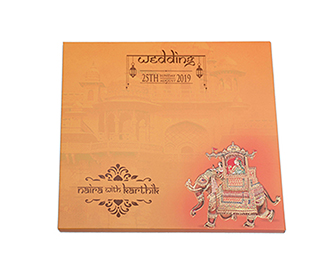 Dulha Dulhan theme Royal Indian wedding invitation